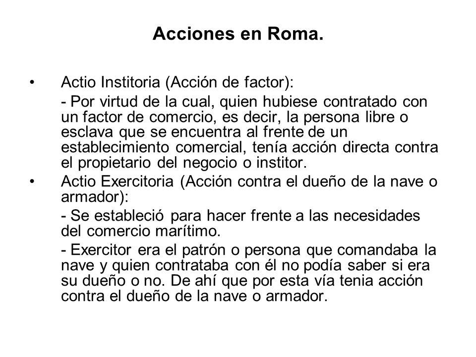 Acciones en Roma.