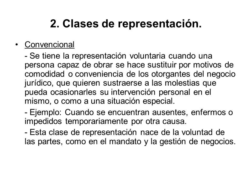 2. Clases de representación.
