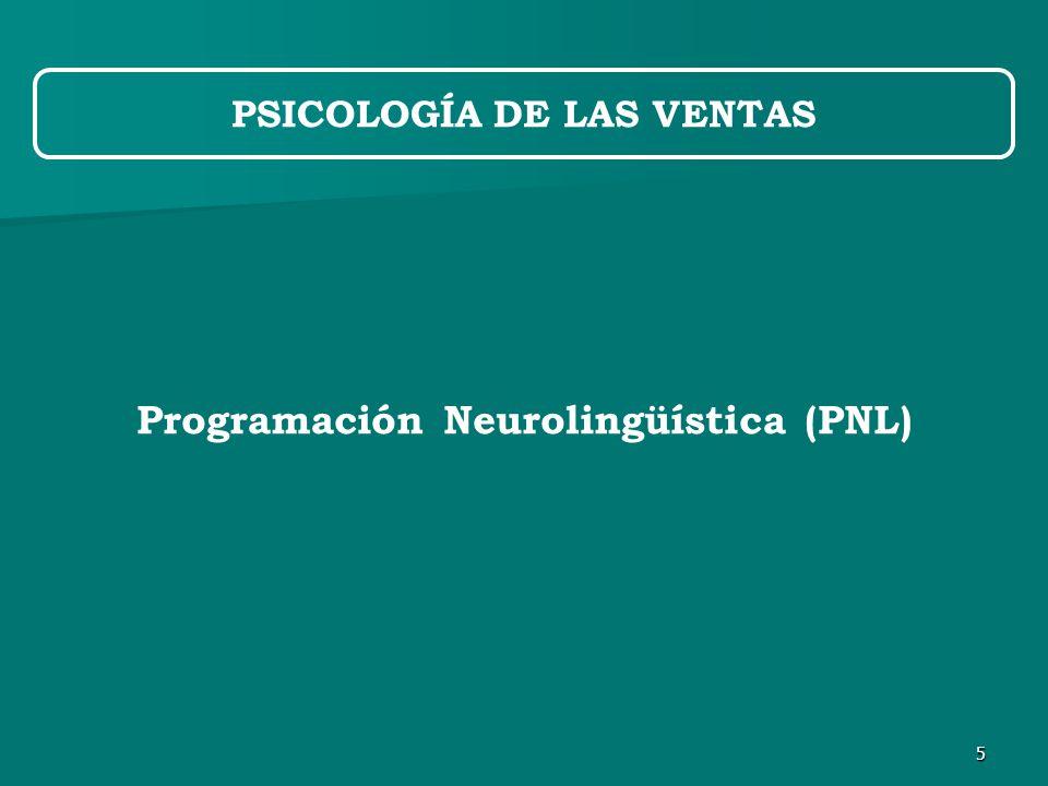 5 PSICOLOGÍA DE LAS VENTAS Programación Neurolingüística (PNL)