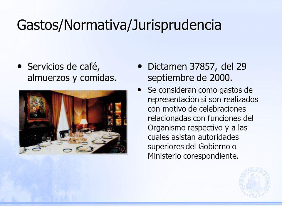 Gastos/Normativa/Jurisprudencia Dictamen 37857, del 29 septiembre de 2000.