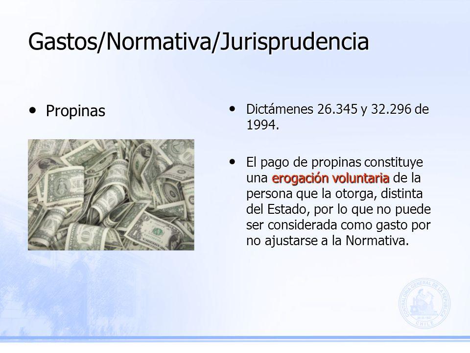 Gastos/Normativa/Jurisprudencia Dictámenes 26.345 y 32.296 de 1994.