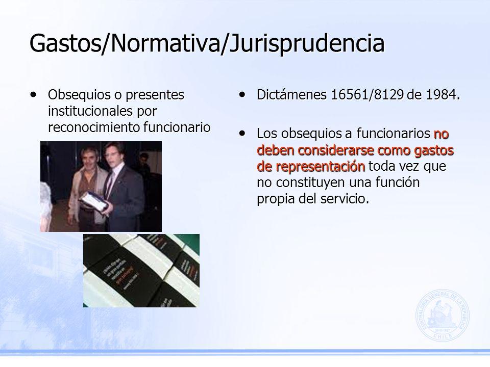 Gastos/Normativa/Jurisprudencia Dictámenes 16561/8129 de 1984.