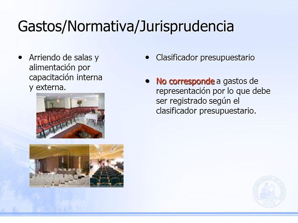 Gastos/Normativa/Jurisprudencia Clasificador presupuestario Clasificador presupuestario No corresponde a gastos de representación por lo que debe ser registrado según el clasificador presupuestario.