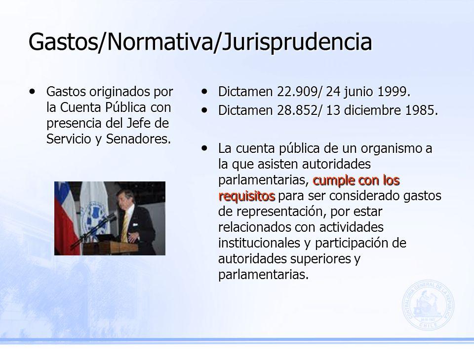Gastos/Normativa/Jurisprudencia Dictamen 22.909/ 24 junio 1999.