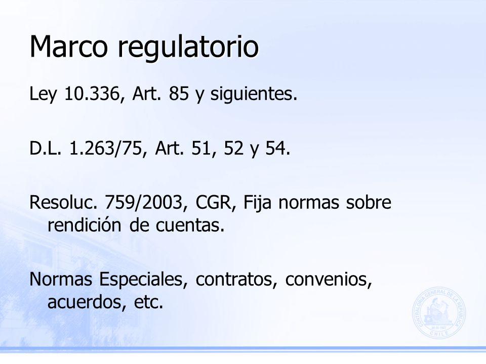 Marco regulatorio Ley 10.336, Art. 85 y siguientes.