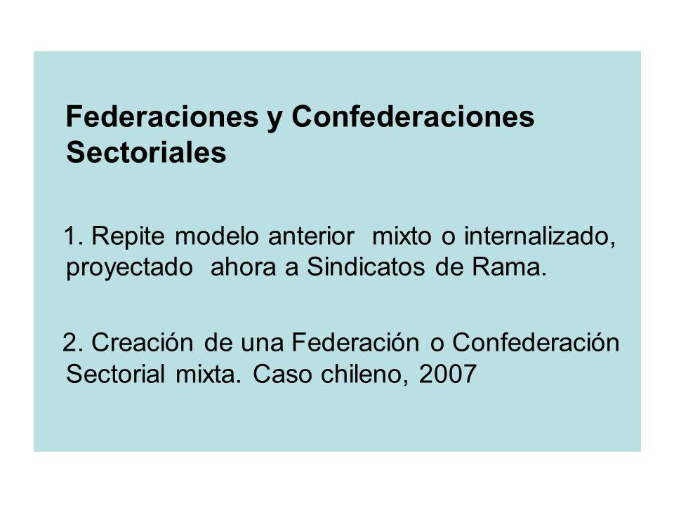 Federaciones y Confederaciones Sectoriales 1.
