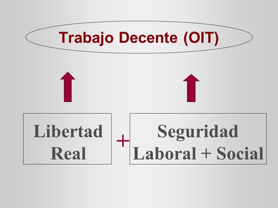 Trabajo Decente (OIT) Libertad Real Seguridad Laboral + Social +