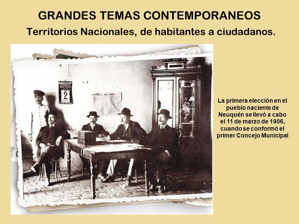 La primera elección en el pueblo naciente de Neuquén se llevó a cabo el 11 de marzo de 1906, cuando se conformó el primer Concejo Municipal