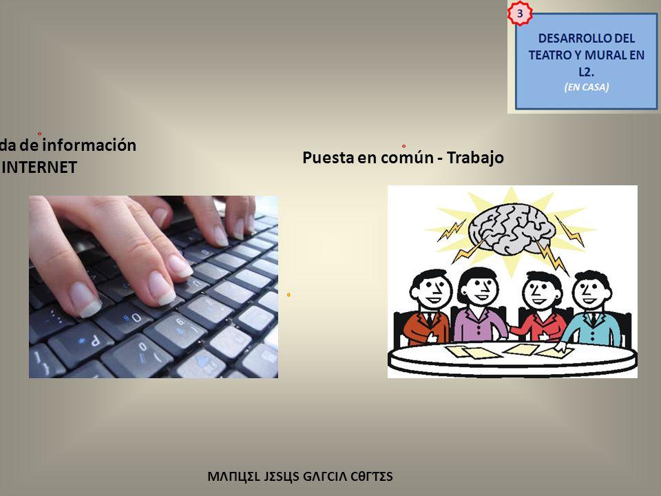 Búsqueda de información INTERNET Puesta en común - Trabajo
