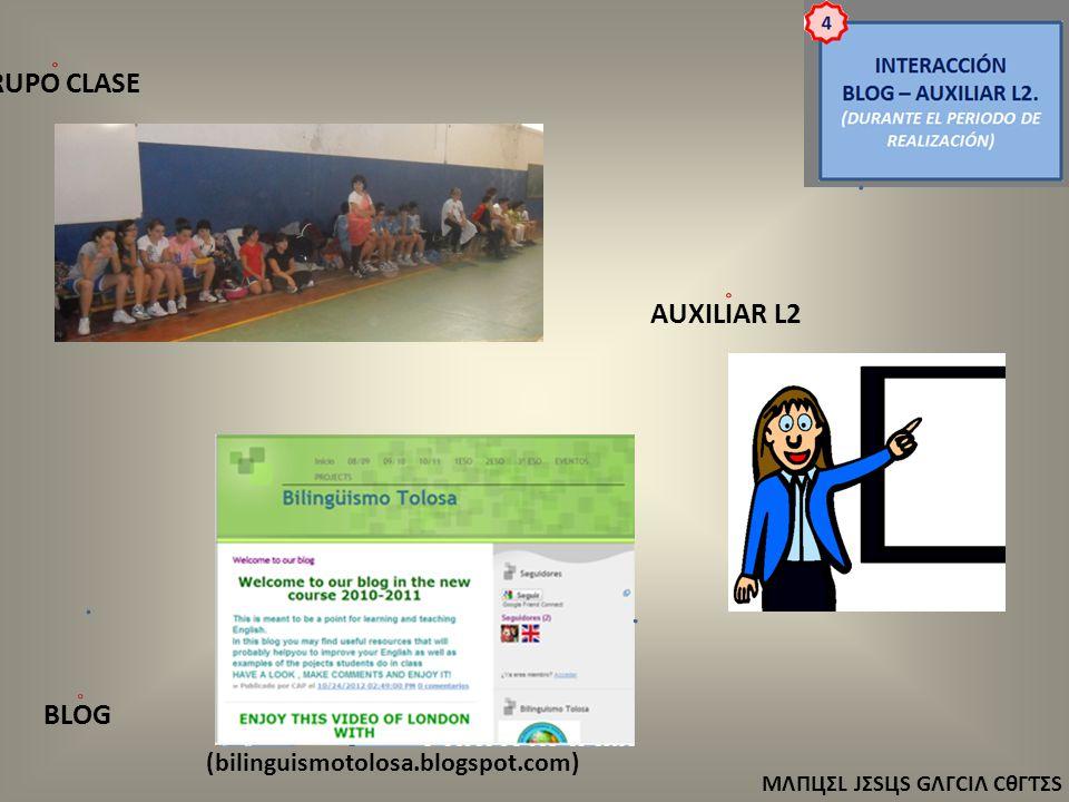 ΜΛПЦΣL JΣЅЦЅ GΛΓCIΛ CθΓƬΣЅ (bilinguismotolosa.blogspot.com) AUXILIAR L2 GRUPO CLASE BLOG