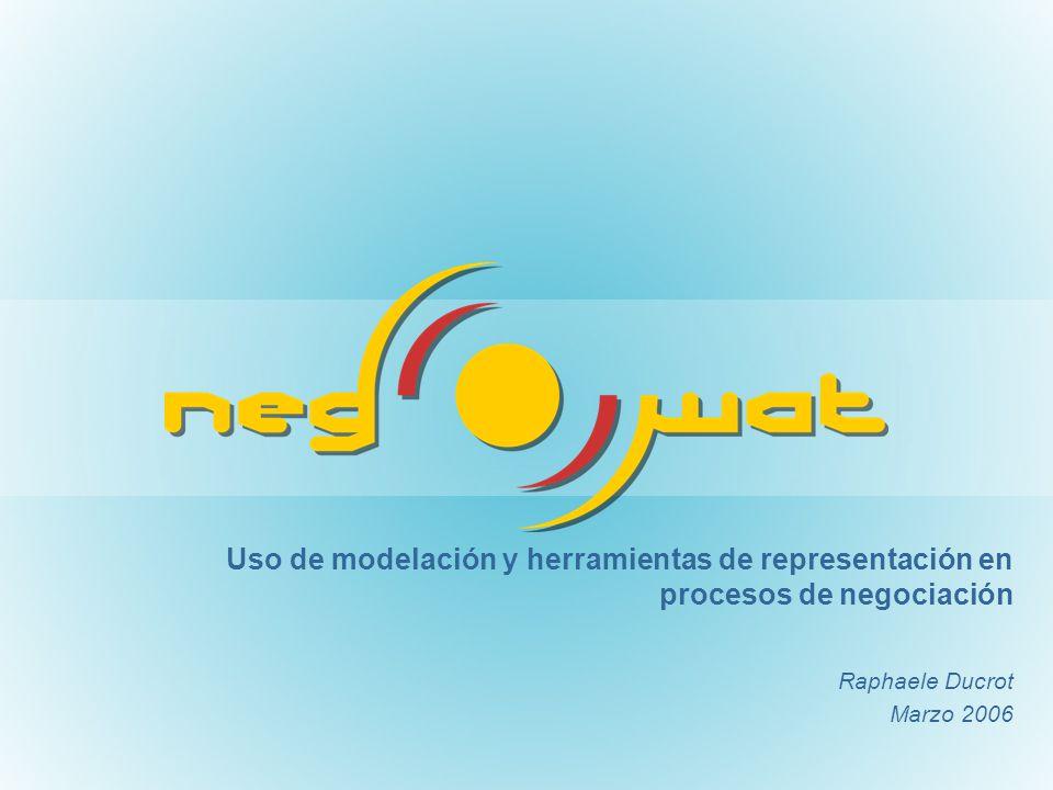Uso de modelación y herramientas de representación en procesos de negociación Raphaele Ducrot Marzo 2006