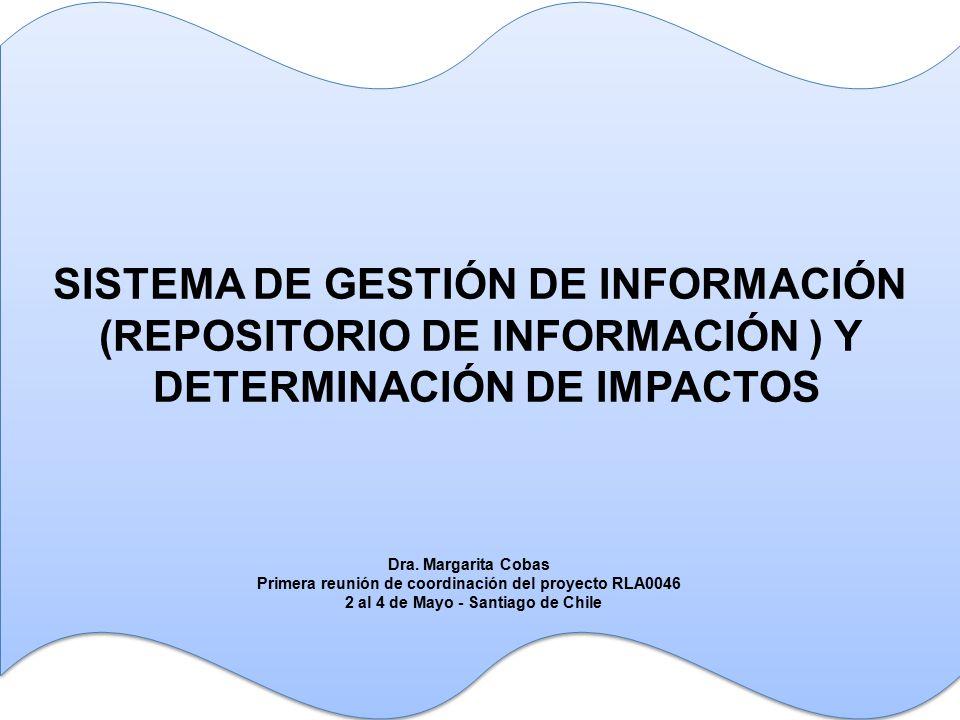 SISTEMA DE GESTIÓN DE INFORMACIÓN (REPOSITORIO DE INFORMACIÓN ) Y DETERMINACIÓN DE IMPACTOS SISTEMA DE GESTIÓN DE INFORMACIÓN (REPOSITORIO DE INFORMACIÓN ) Y DETERMINACIÓN DE IMPACTOS Dra.