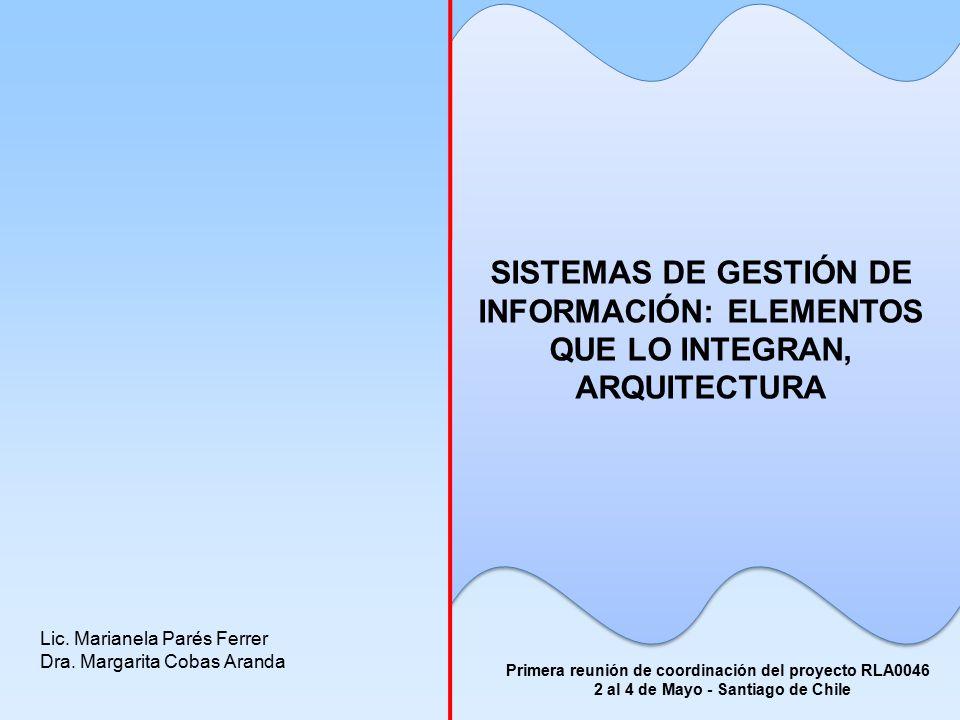 SISTEMAS DE GESTIÓN DE INFORMACIÓN: ELEMENTOS QUE LO INTEGRAN, ARQUITECTURA Lic.