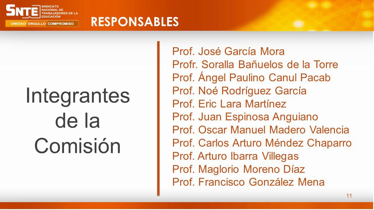 11 Prof. José García Mora Profr. Soralla Bañuelos de la Torre Prof.