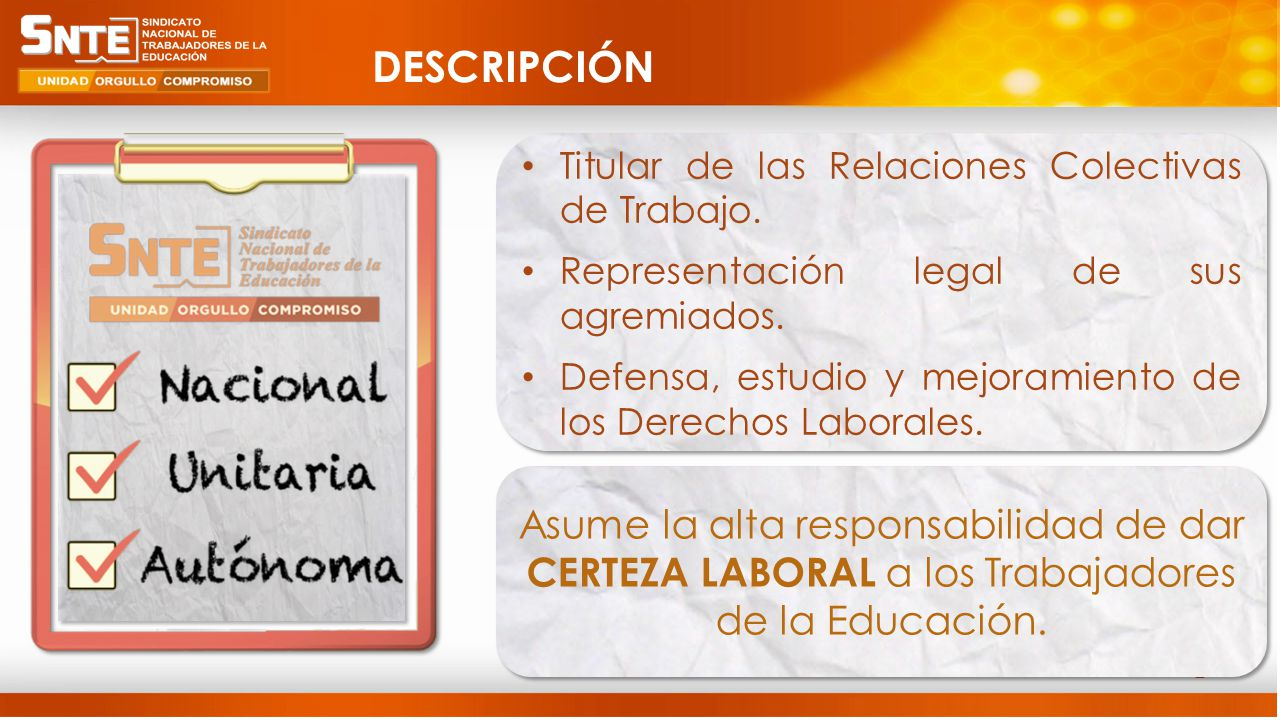 2 Titular de las Relaciones Colectivas de Trabajo.