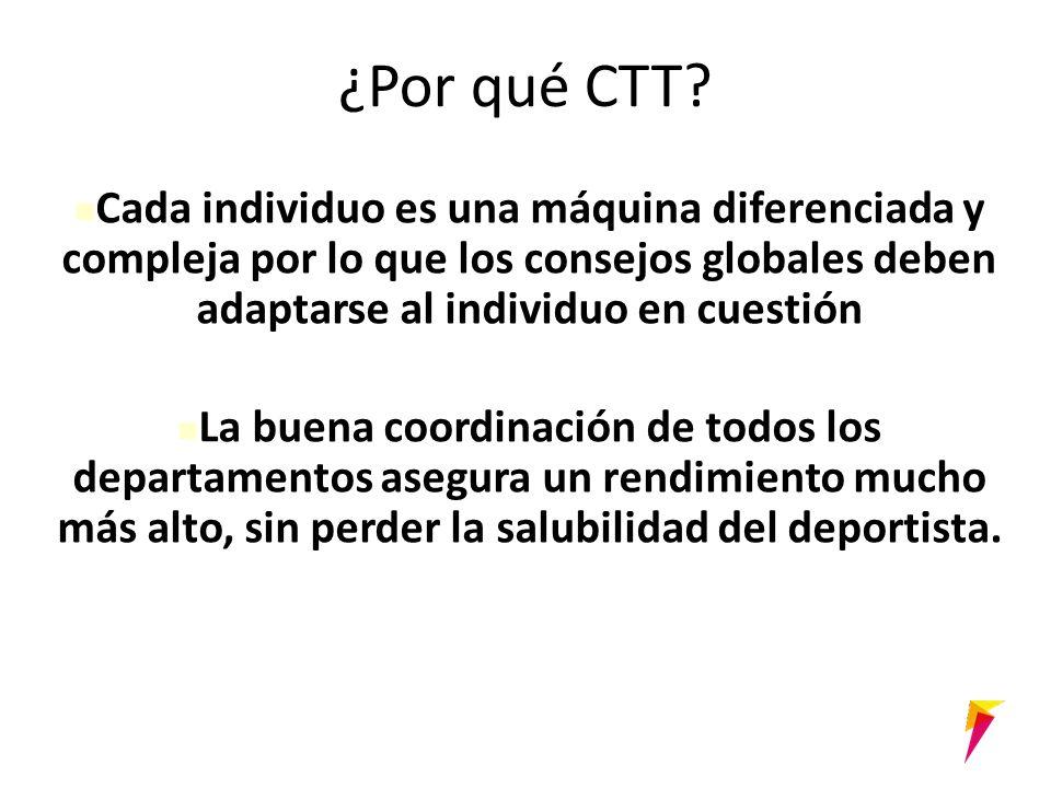 ¿Por qué CTT.