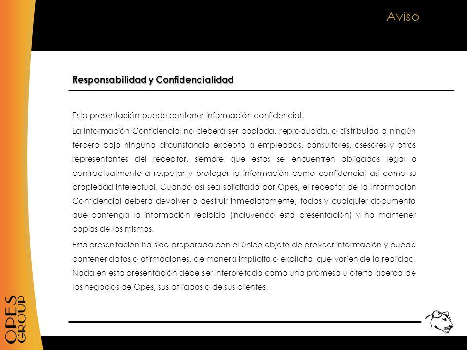 Aviso Esta presentación puede contener información confidencial.