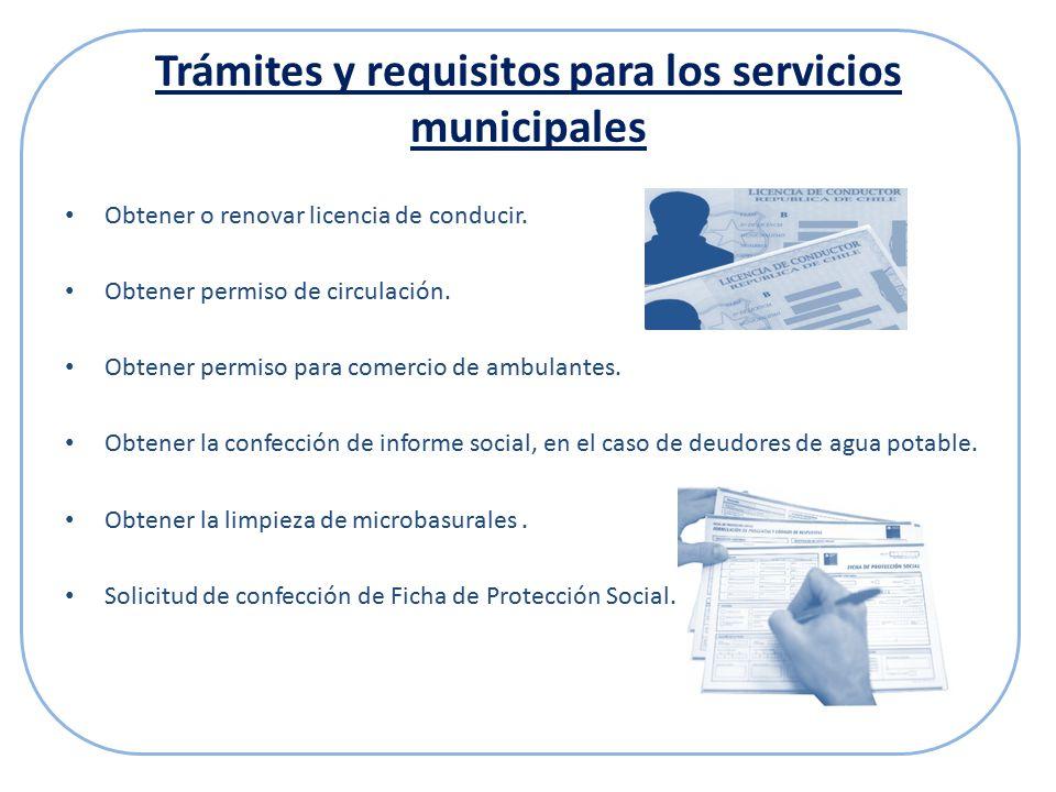 Trámites y requisitos para los servicios municipales Obtener o renovar licencia de conducir.