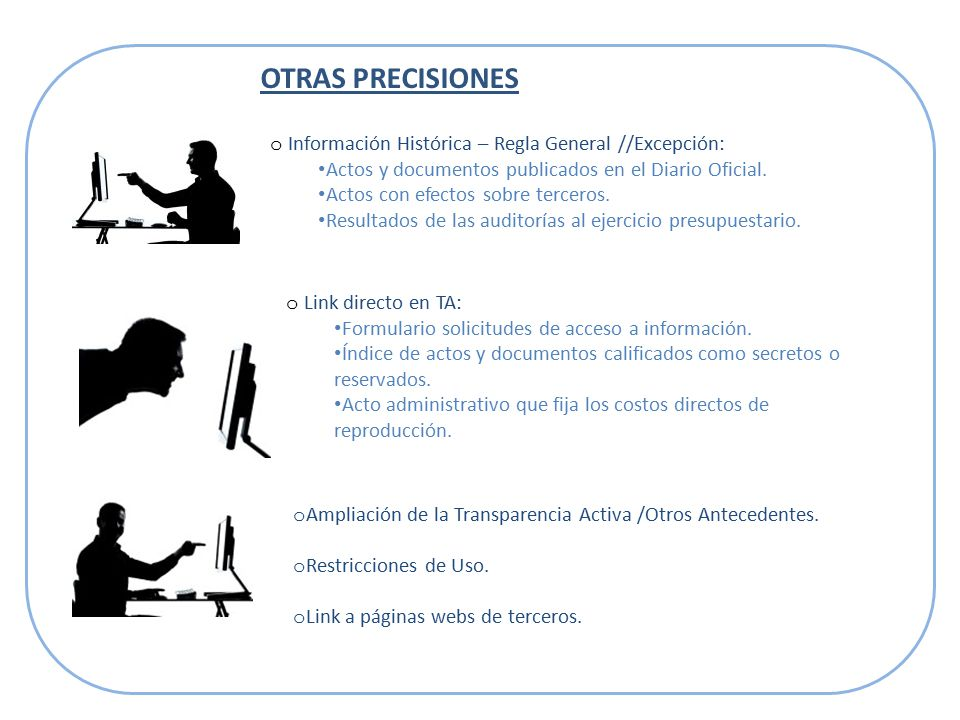 OTRAS PRECISIONES o Ampliación de la Transparencia Activa /Otros Antecedentes.