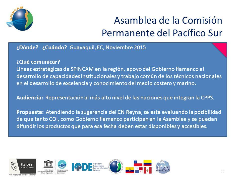 Asamblea de la Comisión Permanente del Pacífico Sur 11 ¿Dónde.
