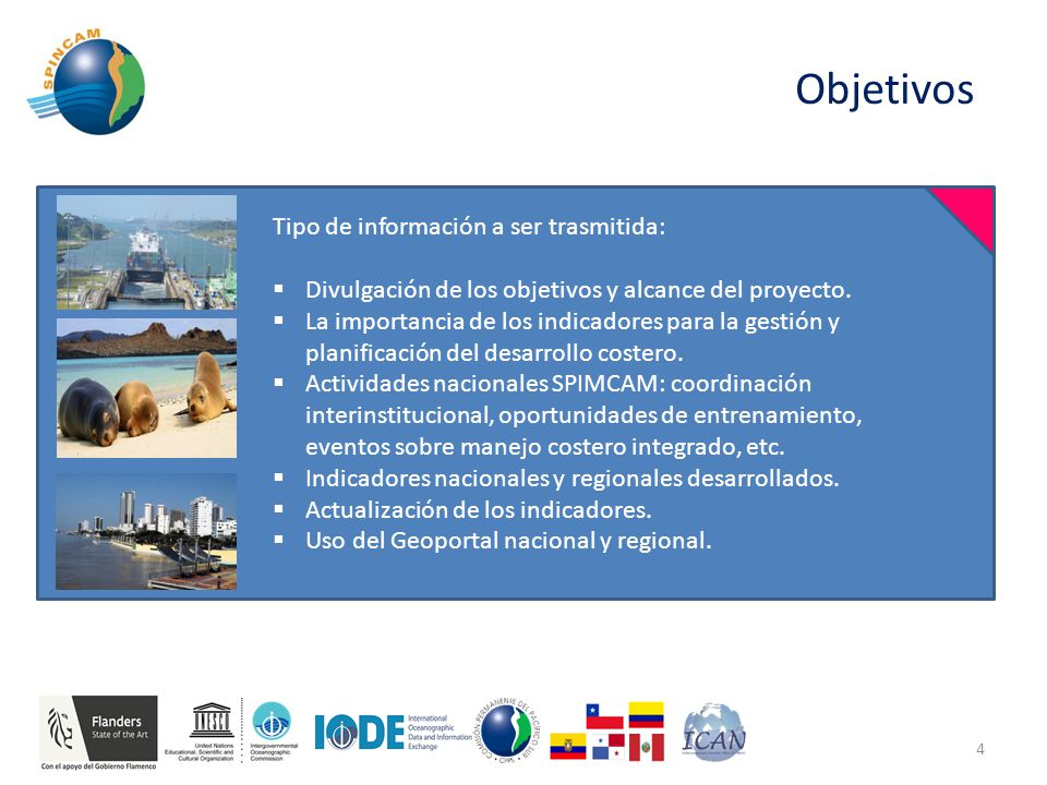 Objetivos 4 Tipo de información a ser trasmitida:  Divulgación de los objetivos y alcance del proyecto.