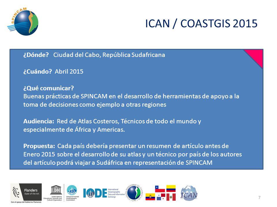 ICAN / COASTGIS 2015 ¿Dónde. Ciudad del Cabo, República Sudafricana ¿Cuándo.