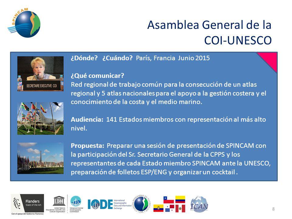 Asamblea General de la COI-UNESCO 8 ¿Dónde. ¿Cuándo.