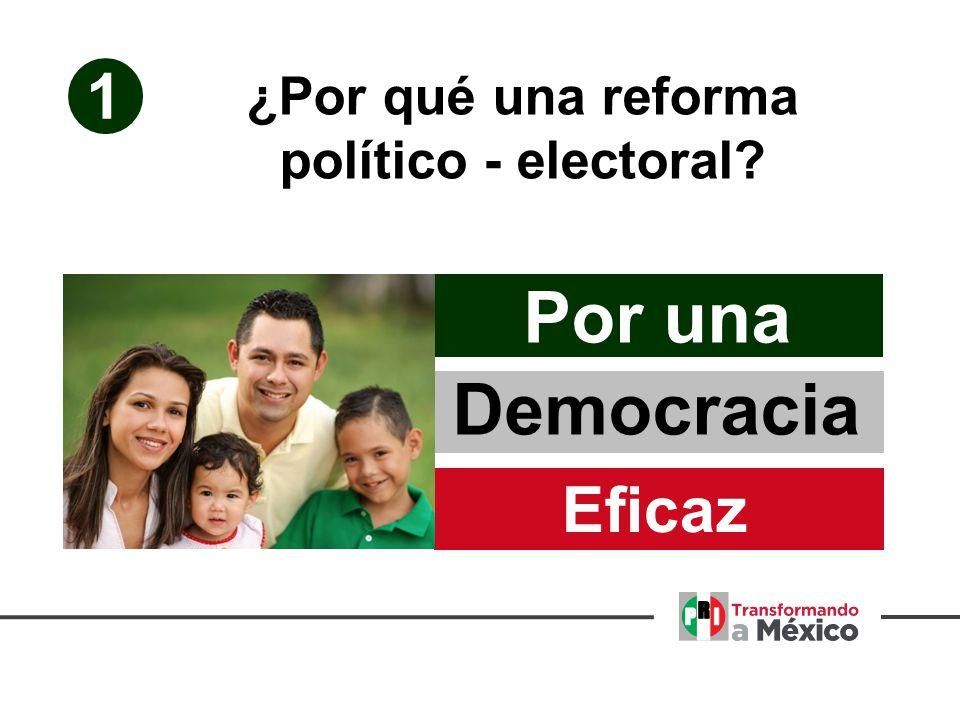 1 Eficaz Democracia Por una ¿Por qué una reforma político - electoral