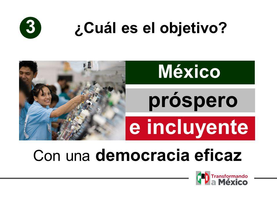 3 e incluyente México próspero ¿Cuál es el objetivo Con una democracia eficaz