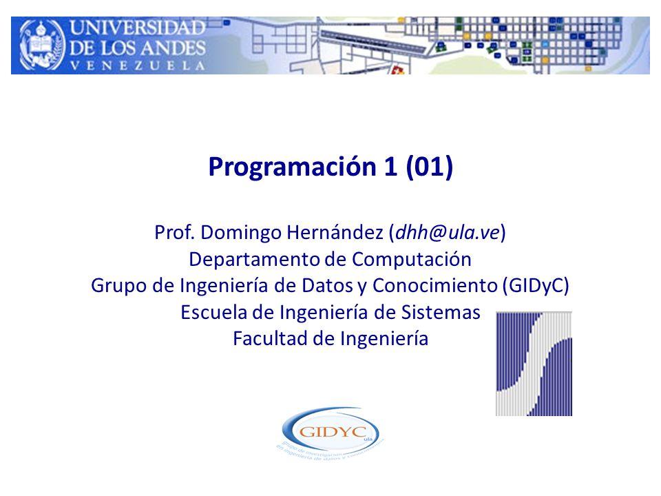 Programación 1 (01) Prof.