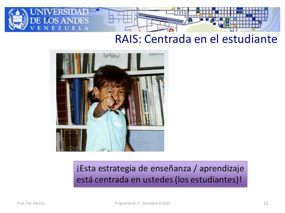 RAIS: Centrada en el estudiante Prof.