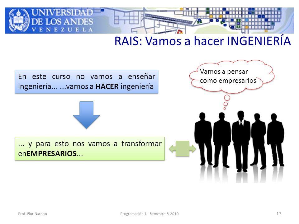 RAIS: Vamos a hacer INGENIERÍA Prof.