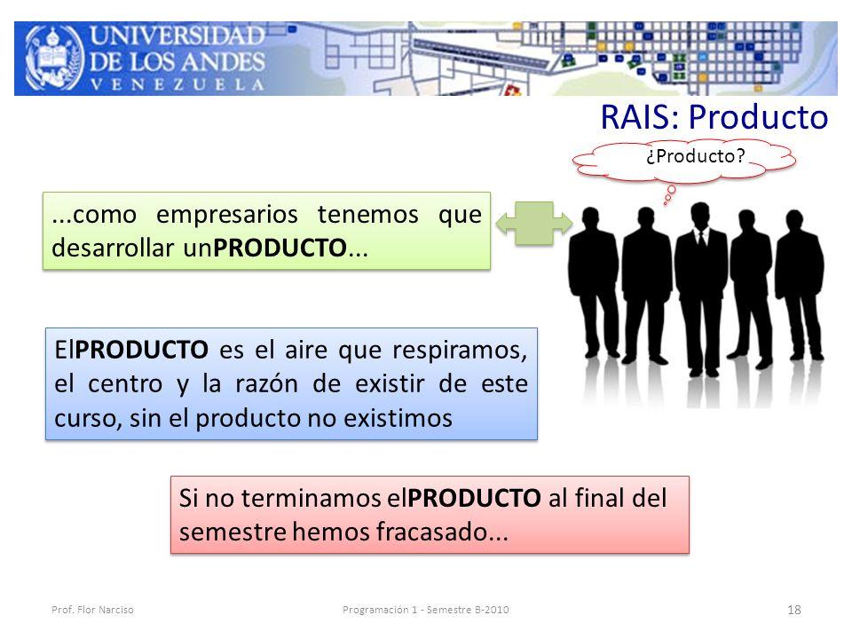 RAIS: Producto Prof.