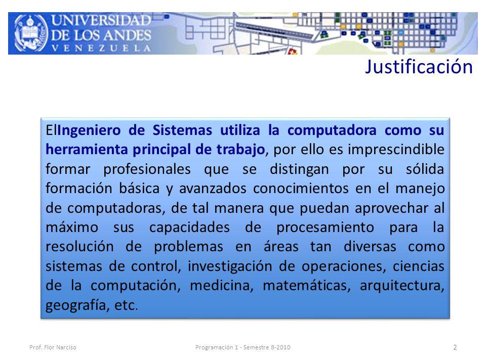 Justificación Prof.