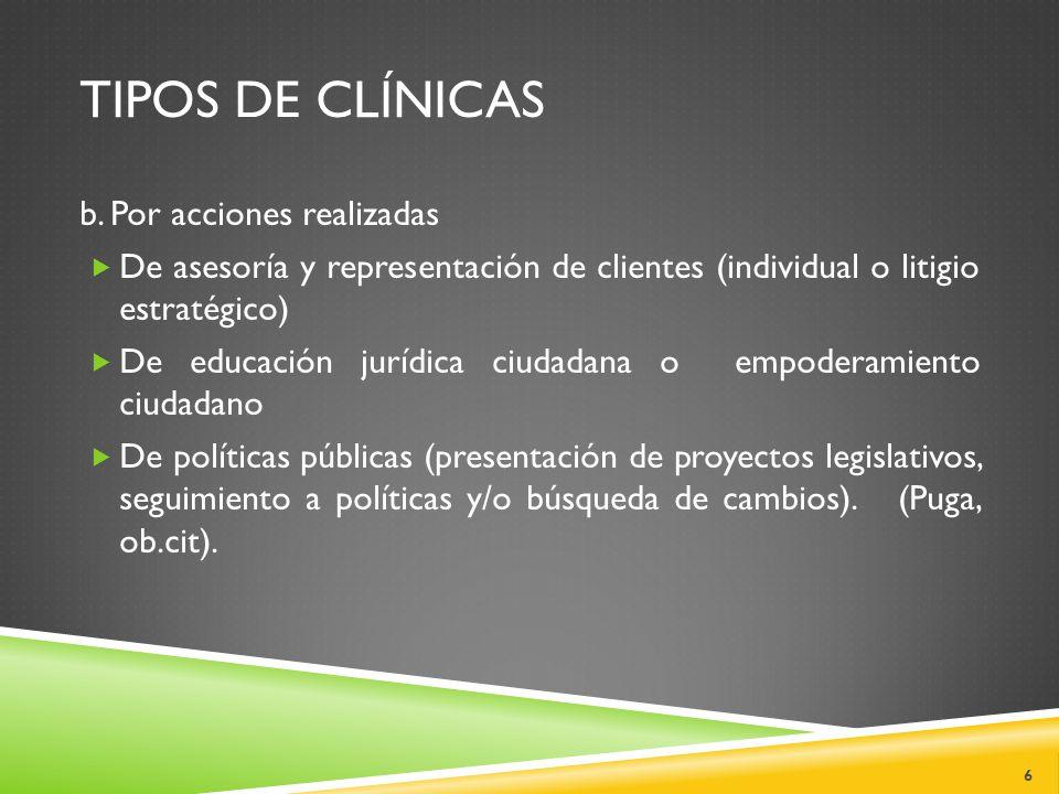 TIPOS DE CLÍNICAS b.