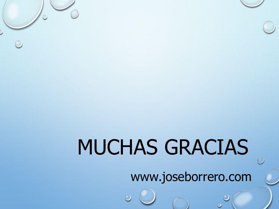 MUCHAS GRACIAS www.joseborrero.com