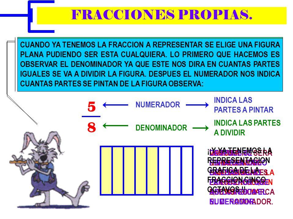 REPRESENTACION GRAFICA DE FRACCIONES. MATEMATICAS
