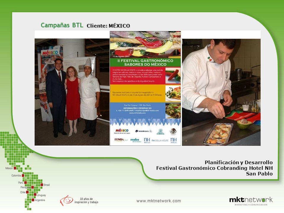 Cliente: MÉXICO Planificación y Desarrollo Festival Gastronómico Cobranding Hotel NH San Pablo Campañas BTL