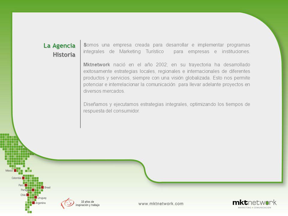 La Agencia Historia S Somos una empresa creada para desarrollar e implementar programas integrales de Marketing Turístico para empresas e instituciones.