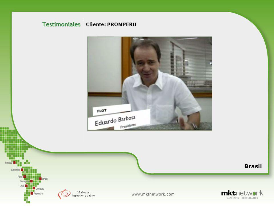 Cliente: PROMPERU Testimoniales Brasil