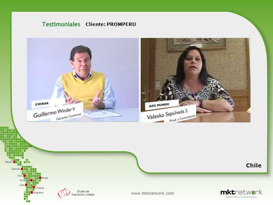 Chile Testimoniales Cliente: PROMPERU