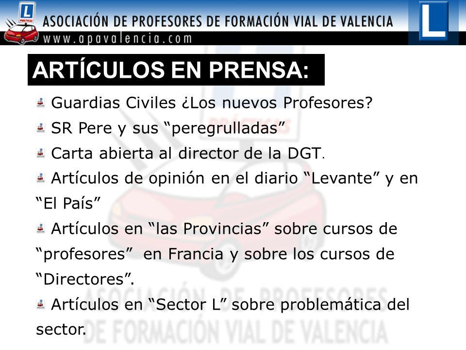ARTÍCULOS EN PRENSA: Guardias Civiles ¿Los nuevos Profesores.