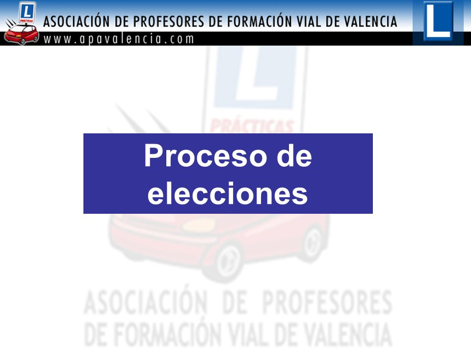 Proceso de elecciones