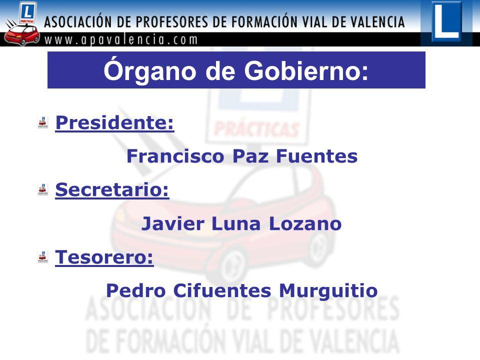 Órgano de Gobierno: Presidente: Francisco Paz Fuentes Secretario: Javier Luna Lozano Tesorero: Pedro Cifuentes Murguitio