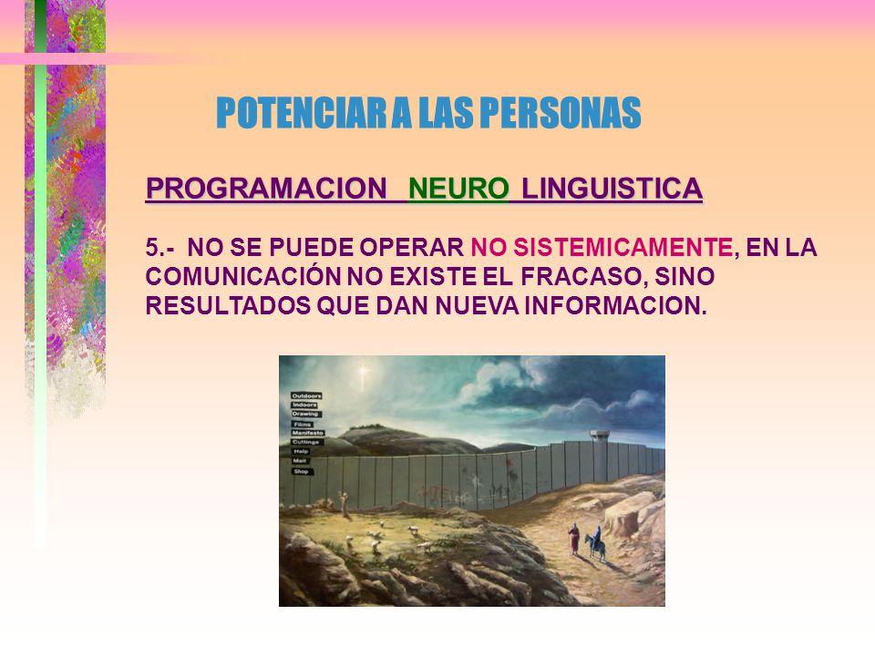 PROGRAMACION NEURO LINGUISTICA 4.- LAS PERSONAS TOMAN DECISIONES SEGUN EL MAPA QUE POSEEN Y LA INFORMACION DE QUE DISPONEN, SIENDO POR LO MISMO LAS MEJORES DECISIONES.