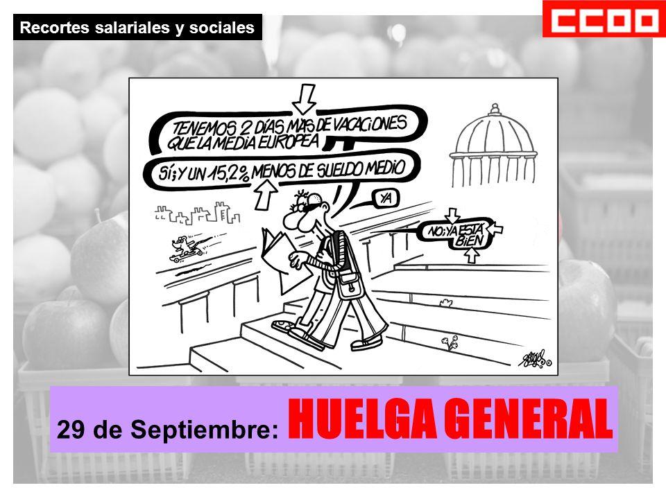 Recortes salariales y sociales 29 de Septiembre: HUELGA GENERAL