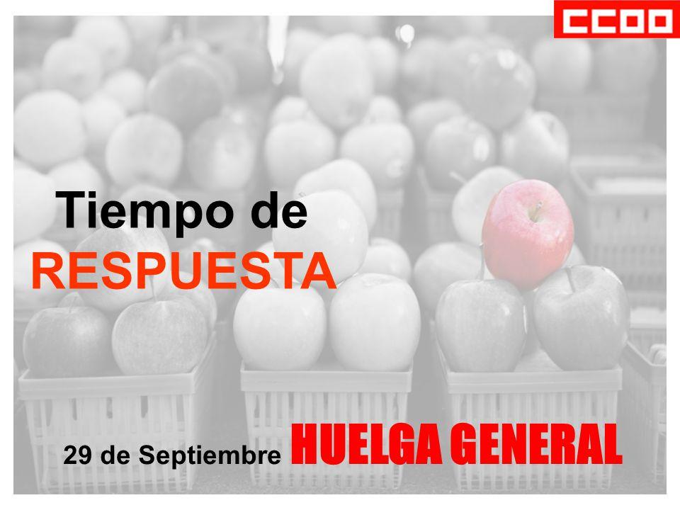 Tiempo de RESPUESTA 29 de Septiembre HUELGA GENERAL