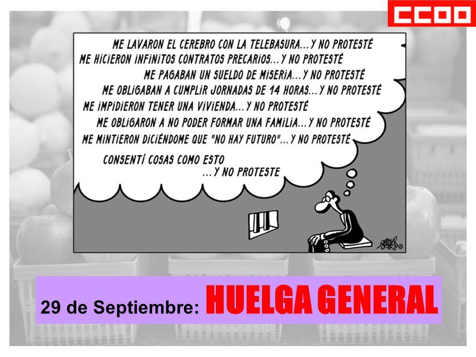 29 de Septiembre: HUELGA GENERAL