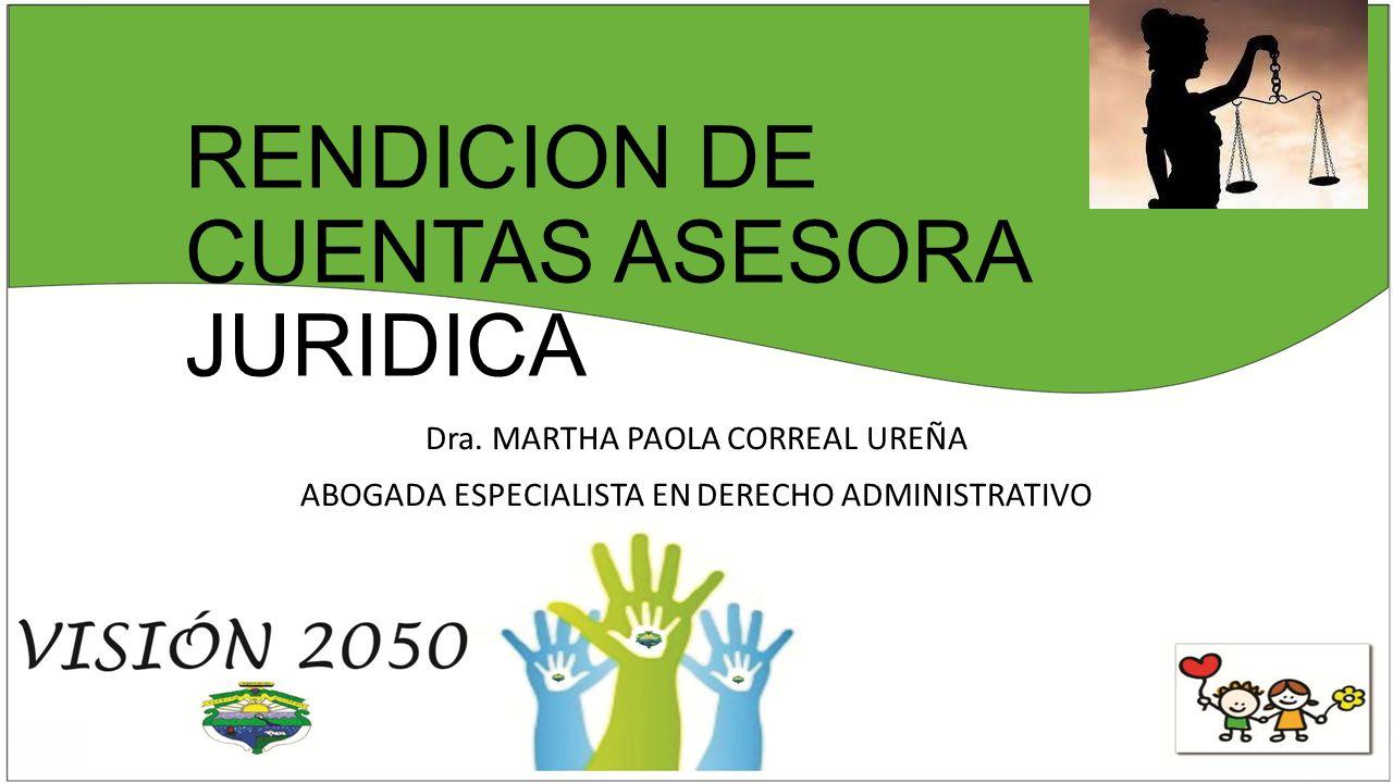 RENDICION DE CUENTAS ASESORA JURIDICA Dra.