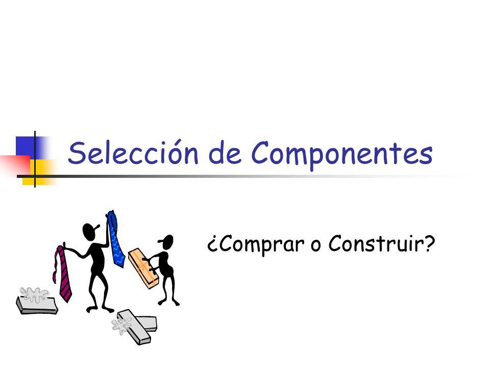 Selección de Componentes ¿Comprar o Construir